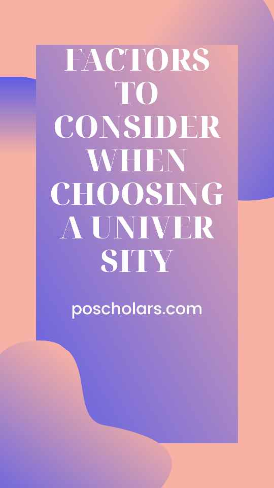 Top 8 factors to consider when choosing a university