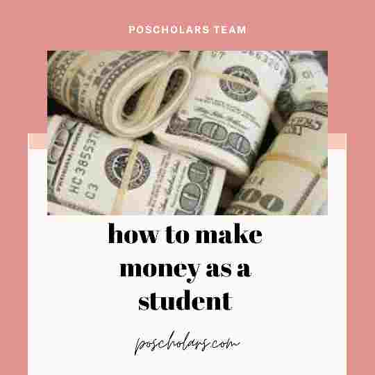 How to make money as a student without affecting your school grades